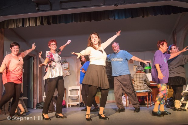 """Cast members practice some of their dance moves for """"Stepping Out,"""" a comedy that opens Friday, June 9, at San Clemente's Cabrillo Playhouse. (Courtesy of Stephen Hill)"""