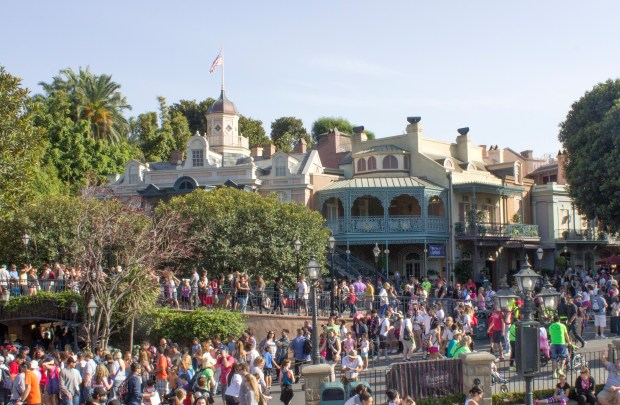 A crowded New Orleans Square at Disneyland around the entrance to Pirates of the Caribbean. (File photo by: Mark Eades, Orange County Register and Southern California Newsgroup)