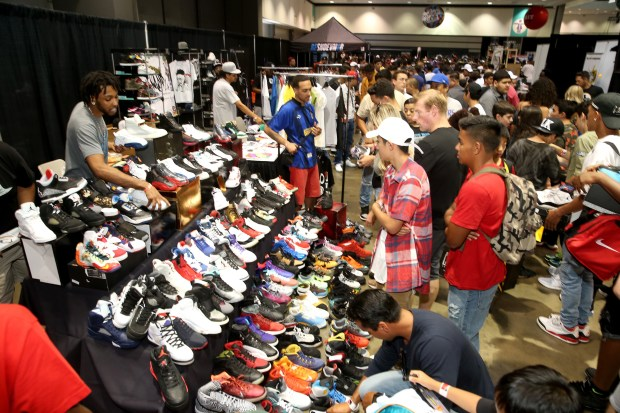 Producers of the annual BET Experience Fan Fest have expanded its SneakerCon into a full blown Kicksperience featuring more sneakers, give-aways, live performances and meet and greets with artists. (Photo by Jesse Grant, Getty Images for BET)