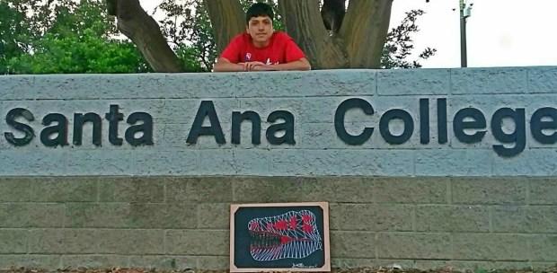 Brandon Roman, Godinez FundamentalSanta Ana College: art major; mural painting, minor (Photo courtesy of Brandon Roman)