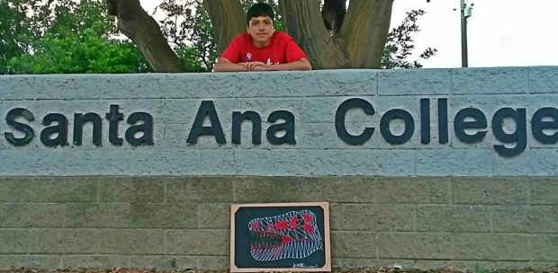 Brandon Roman, Godinez FundamentalSanta Ana College: art major; mural painting, minor (Photo courtesy of Brandon Roman)