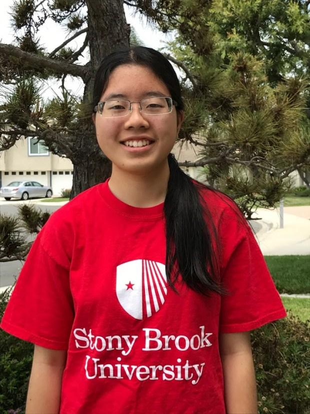 Caitlyn Shimizu, Fountain ValleyStony Brook University: biology (Photo courtesy of Caitlyn Shimizu)