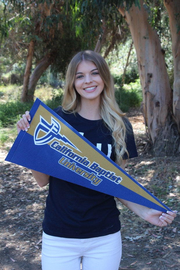 Breana Crane, Los AlamitosCalifornia Baptist University: psychology major; communication studies, minor (Photo courtesy of Breana Crane)