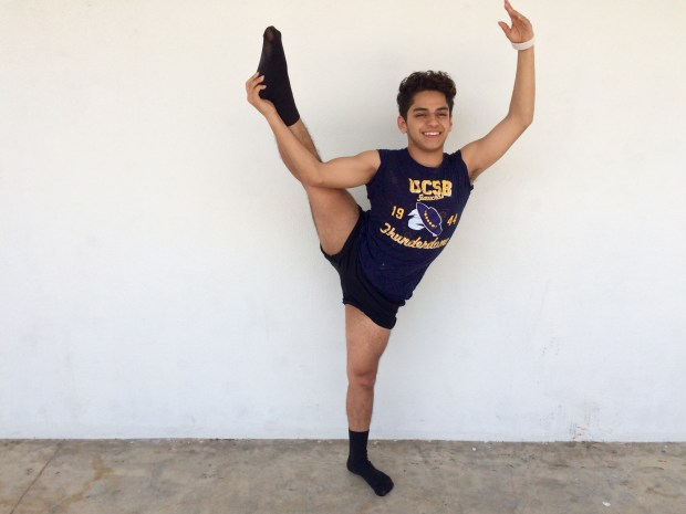 Samuel Pe–aloza, Godinez FundamentalUC Santa Barbara: dance (Photo courtesy of Samuel Pe–aloza)