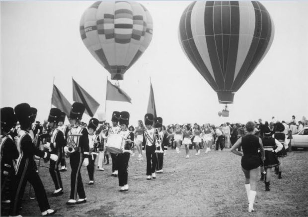 The Gordon Bennett balloon races, founded in 1906, enjoyed a comeback in the late 1970s and '80s and for several years were staged at Mile Square Park. COURTESY FOUNTAIN VALLEY HISTORICAL SOCIETY