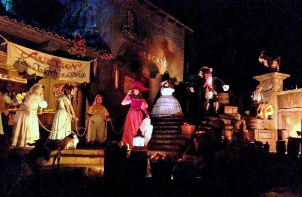 "The auction scene in Pirates of the Caribbean at Disneyland. The scene is famous for the line spoken by pirates ""We wants the Redhead"" as heard by riders in the boats. But in early 2018, the auction will no longer be selling brides, and the redhead will become a pirate helping the auctioneer gather booty from the townspeople to sell to pirates. (File photo by: Bruce Chambers, Orange County Register/SCNG)"