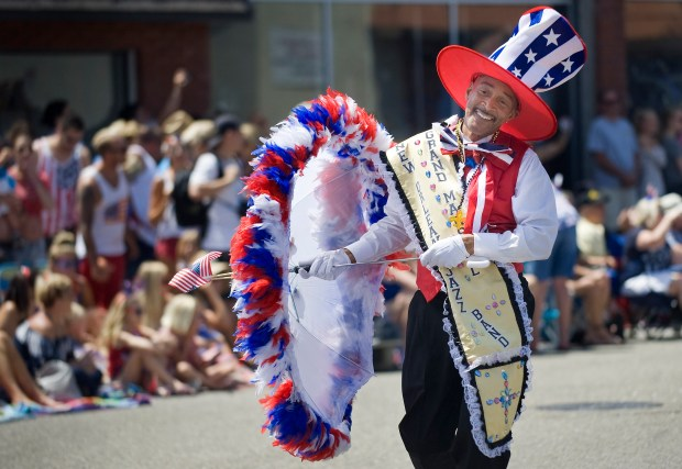 Patriotic flair is everywhere when the Huntington Beach Fourth of July parade is in town. / PHOTO MINDY SCHAUER, ORANGE COUNTY REGISTER