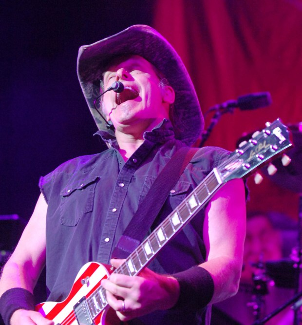 THENUGE14e.jpg (8/13/10/PALM DESERT/FEATURES) Ted Nugent performs at Agua Caliente Casino in Palm Desert on August 13, 2010 .(Paul Alvarez/Special to the Press-Enterprise)