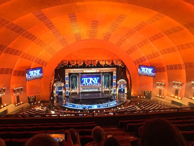 Capistrano Valley students watch rehearsal for the Tony Awards at Radio City Music Hall during a trip to New York in June 2017. (Photo courtesy of Capistrano Valley High School)