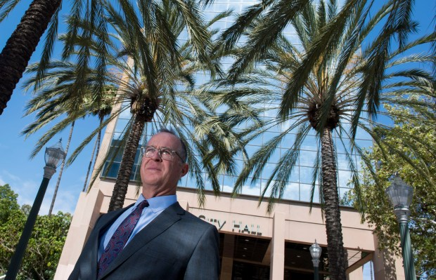 Mayor Tom Tait reflects on the 5-year anniversary of the Anna Drive riots in Anaheim. Photographed at City Hall in Anaheim, CA on Wednesday, July 19, 2017. (Photo by Kevin Sullivan, Orange County Register/SCNG)