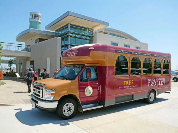 This new free trolley takes people around the Balboa Peninsula on summer weekends and the 4th of July.
