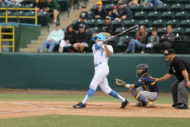 UCLA first baseman Sean Bouchard was drafted in the ninth round of the MLB Draft on Tuesday. (Photo courtesy Katie Meyers/UCLA Athletics)