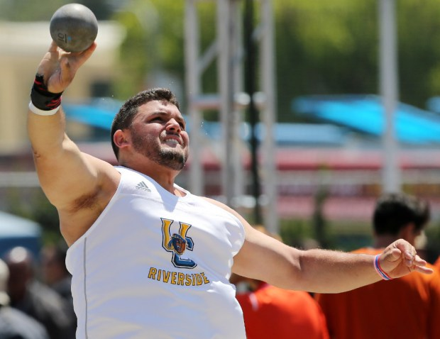 Carl Nahigian was a two-time Big West champ in the shot put for UC Riverside.