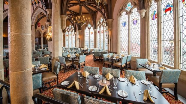 Cinderella Royal Table Restaurant, on the second level of Cinderella Castle. (Photo courtesy, The Walt Disney World Resort)