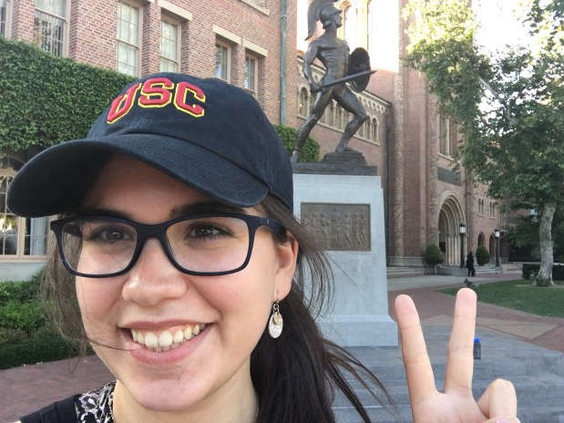 Domenica Diaz, ConnellyUSC: political science and theatre (stage management) [u] (Photo courtesy of Domenica Diaz)