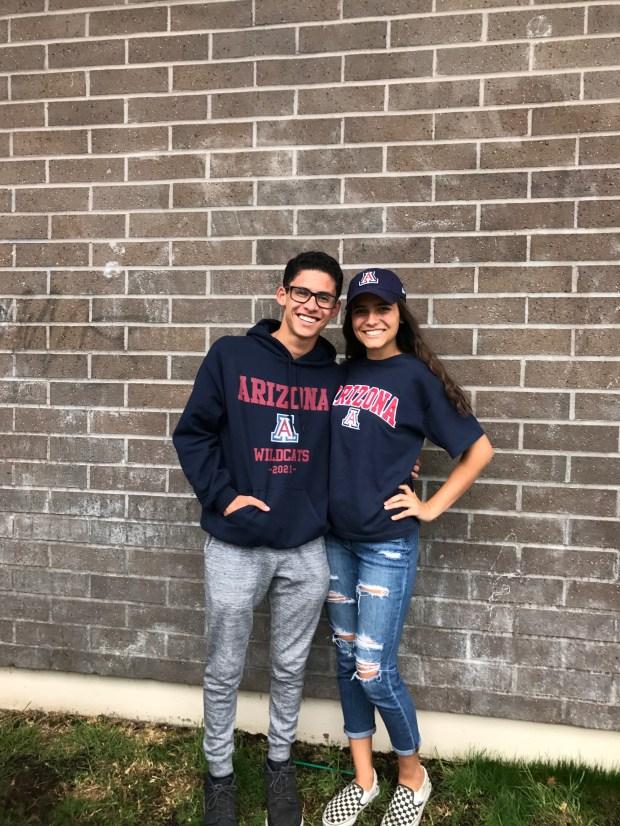 Jared Machado, left, OCSAUniversity of Arizona: musical theatre (Photo courtesy of Jared Machado)