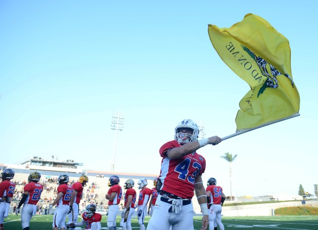 The South's Graden Sharpe of Tesoro takes the field.The Orange County All-Star Classic high school football playing was played at Orange Coast College in Costa Mesa, CA on Friday, June 30, 2017. (Photo by Bill Alkofer,Orange County Register/SCNG)