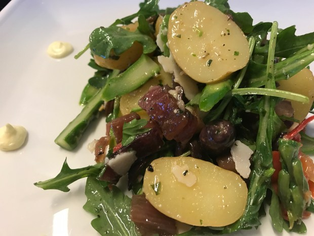 The Ranch Made-Simple Asparagus Salad combines potatoes and green veggies for a filling yet light dish. (Cathy Thomas)