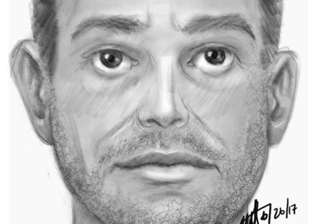Riverside police are asking for the public's help to find a man suspected of kidnapping and sexually assaulting a girl Sunday. (sketch courtesy of Riverside Police Department)