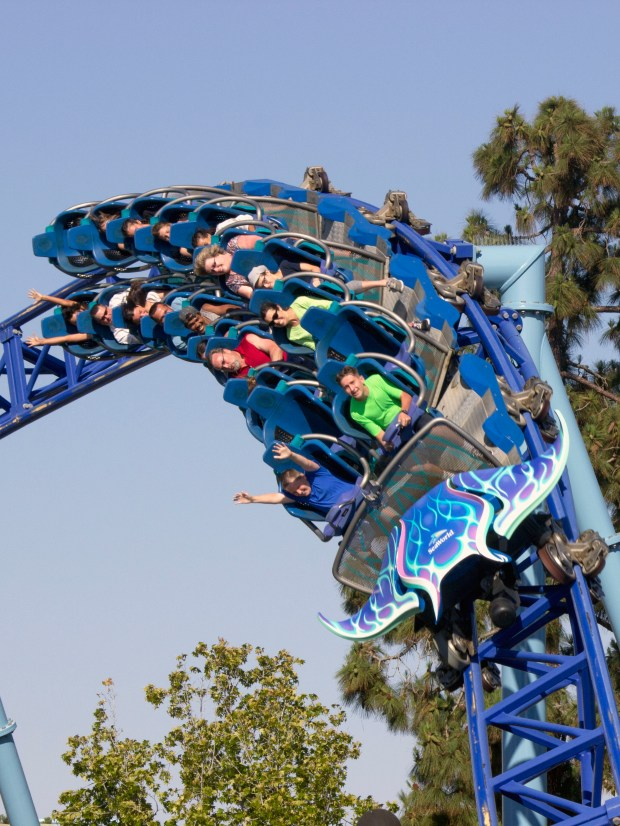 It's a wild ride on the power launched Manta roller coaster at SeaWorld San Diego. (Photo by Mark Eades, Orange County Register/SCNG)