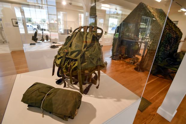 Heroes Hall at the Orange County Fairground in Costa Mesa, California, Tuesday, July 11, 2017. Current exhibits include 'The Things They Carried,' which offers a glimpse of the veterans personal war experience through the objects carried into combat.(Photo by Jeff Gritchen, Orange County Register/SCNG)