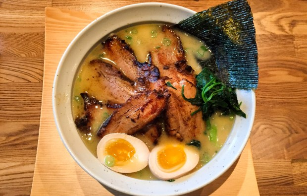 Tonkotsu ramen at HiroNori in Irvine. (Photo by Brad A. Johnson, Orange County Register/SCNG)