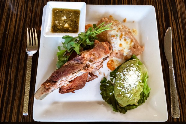 Pork ribs are cooked in the style of carnitas at Javier's at Crystal Cove. (Photo by Brad A. Johnson, Orange County Register/SCNG)
