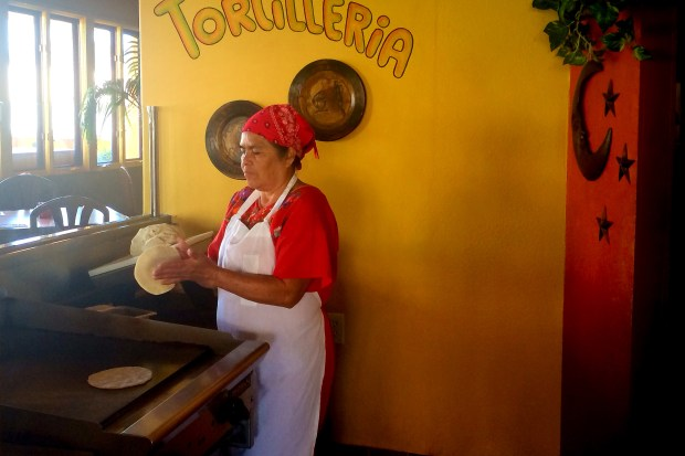 Fresh tortillas are made to order at La Choza in Huntington Beach. (Photo by Brad A. Johnson, Orange County Register/SCNG)