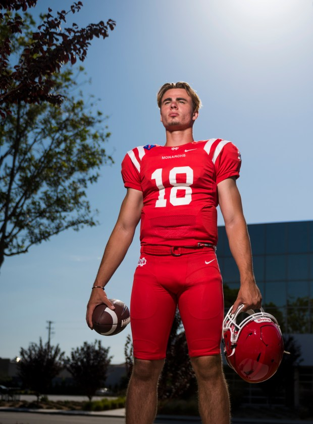 Mater Dei quarterback JT Daniels in Anaheim on Tuesday, July 25, 2017. (Photo by Leonard Ortiz, Orange County Register/SCNG)