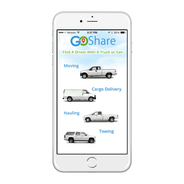 GoShare connects people with a truck or van owner.(Photo coutesy of GoShare)