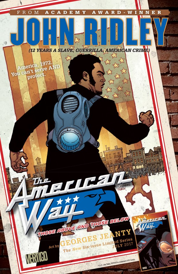 """The American Way"" is a comic book written by Oscar-winning screenwriter John Ridley.Courtesy of DC Comics"