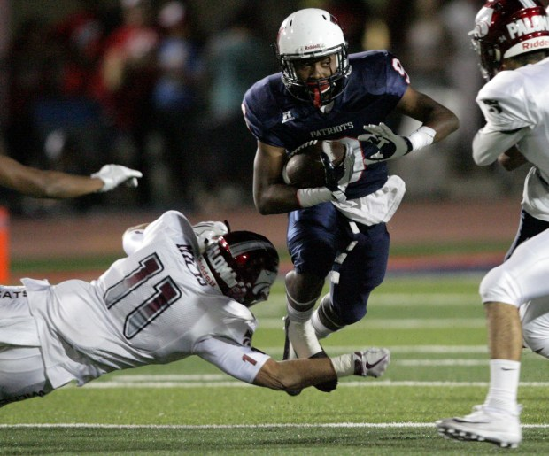 Heritage's Sherod White is a standout running back and defensive back. (Photo by Frank Bellino, The Press-Enterprise/SCNG)