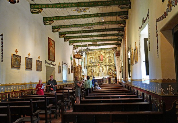 Father Serra is said to have celebrated mass in 1783 at Mission San Juan Capistrano in what is now known as Serra Chapel, now restored and still an active place of worship. (Photo by Fred Swegles, Orange County Register/SCNG)
