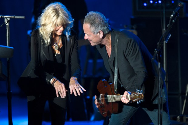 Lindsey Buckingham and Christine McVie of Fleetwood Mac perform at the Greek Theatre in Los Angeles on Wednesday, August 2, 2017. The duo is only playing two shows, one in L.A. and one in New York on Aug. 10. This is also their first ever album and tour as a duo. The album, ÒLindsey Buckingham/Christine McVie,Ó which came out on June 21.(Photo by Matt Masin, Orange County Register, SCNG)