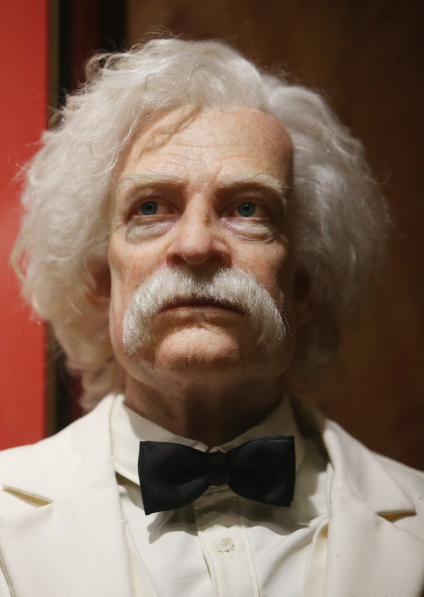 A life like Mark Twain, created at Garner Holt Productions, will be part of their Living Faces of History. (Stan Lim, The Press-Enterprise/SCNG)