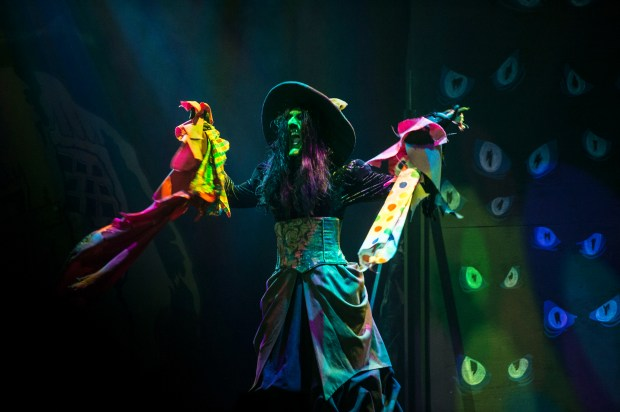 The Green Witch is back for another year of Knott's Scary Farm at Knott's Berry Farm in Buena Park on Thursday, August 31, 2017. (Photo by Matt Masin, Orange County Register, SCNG)