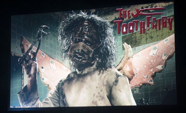 The Toothfairy is a returning attraction to Knott's Scary Farm at Knott's Berry Farm in Buena Park on Thursday, August 31, 2017. (Photo by Matt Masin, Orange County Register, SCNG)