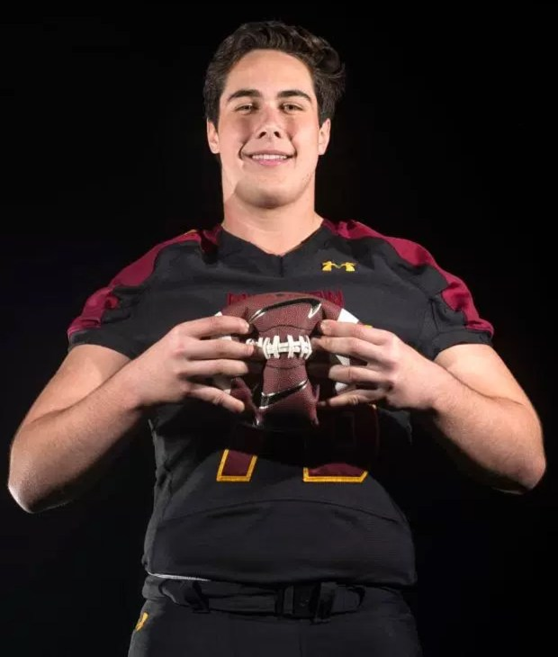 Mission Viejo offensive lineman Jarrett Patterson committed to Arizona State on Saturday, Aug. 5, 2017. (Photo by Matt Masin, Orange County Register/SCNG)