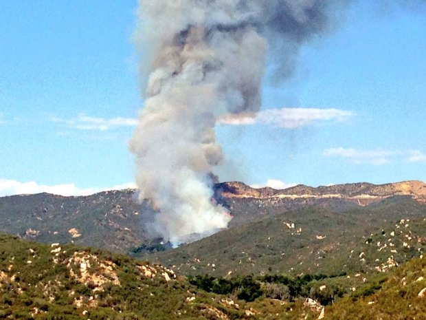 A wildfire has sparked near Ortega Highway west of Lake Elsinore, shutting down the highway west of Grand Avenue. (Photo by Frank Bellino, The Press-Enterprise/SCNG)