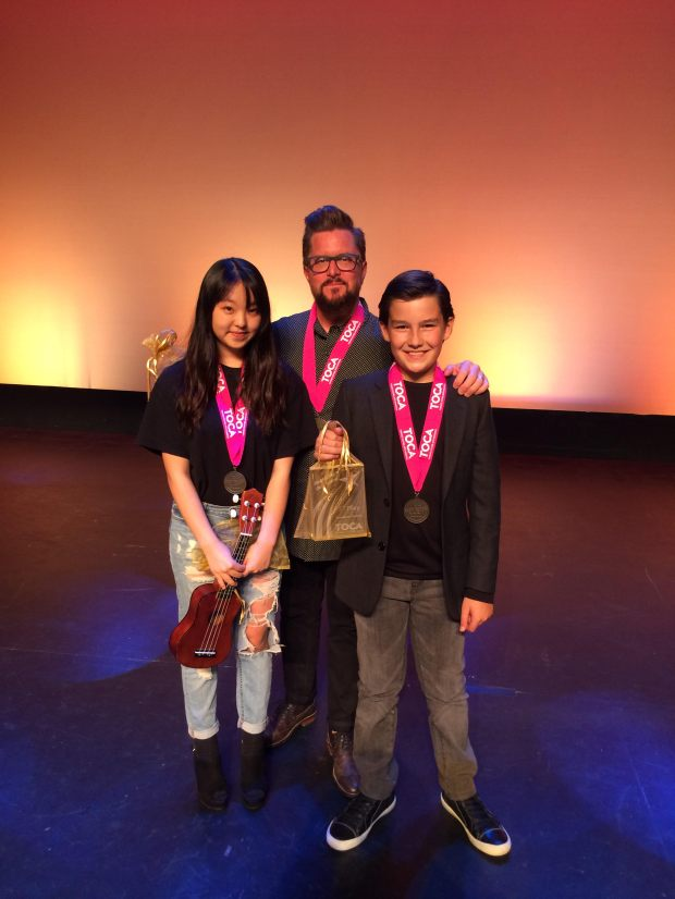 """South Bay's Got Talent"" winners, from left, Aleyna Yim, Kevin Click and Gianluca Ferrante."