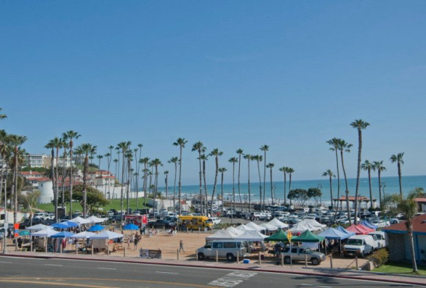 The site of San Clemente's midweek farmers market at North Beach may become the site for the 2017 San Clemente Oktoberfest.(File photo By Jeff Antenore, Contributing Photographer)
