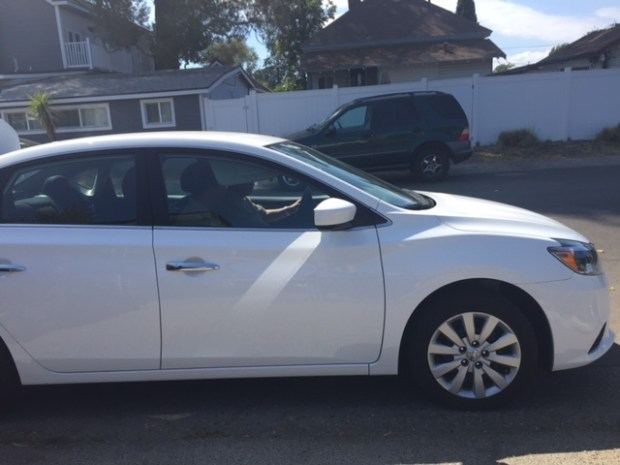 The suspects in two North Hollywood-area distraction burglaries got away in this Nissan Sentra. (Photo courtesy of LAPD)