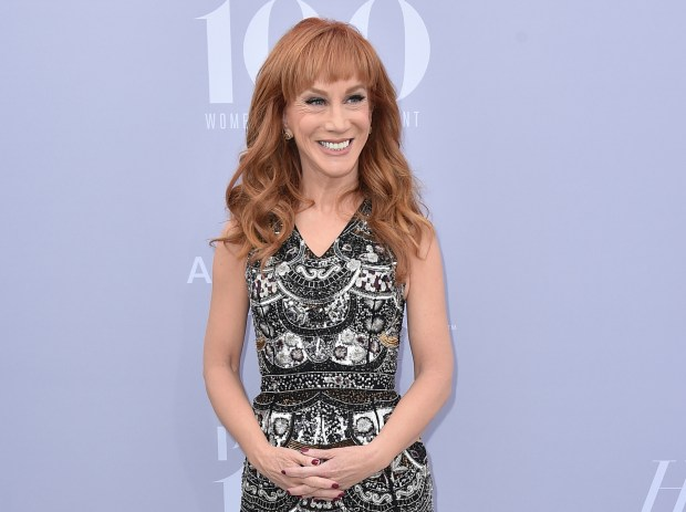 When Kathy Griffin's CEO neighbor launched into a vulgar rant against her, the comedian recorded it, and the man's high-profile company isn't too happy about it. (Photo by Jordan Strauss/Invision/AP, File)