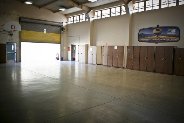 The homeless shelter at the at the National Guard armory in Sylmar will open on Wednesday.
