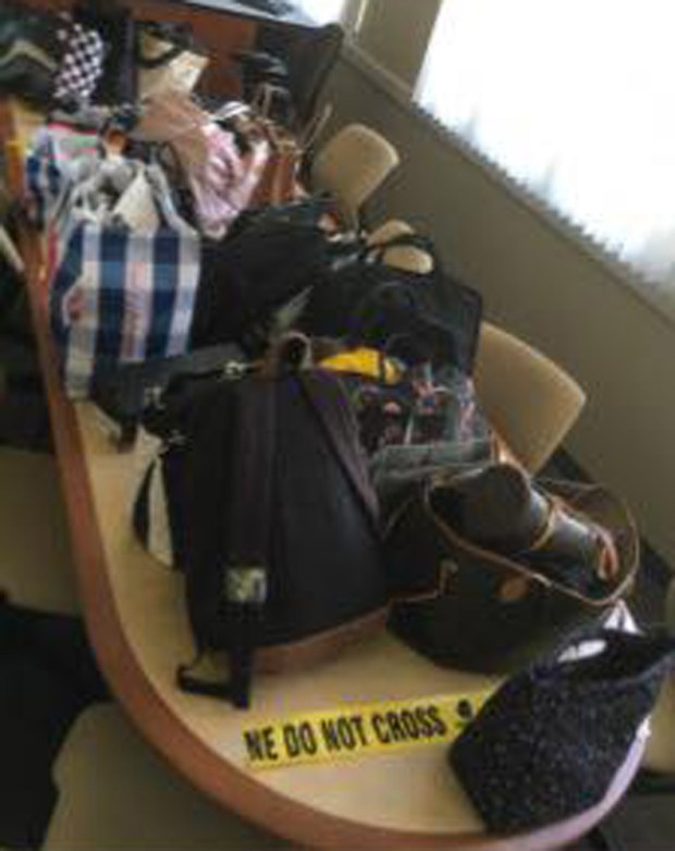 Fullerton police display some of the allegedly stolen goods believed to have been stolen by two Anaheim residents. (Photo courtesy of Fullerton Police Dept. via Facebook)