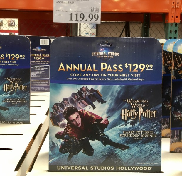 Costco was selling this annual pass to Universal Studios Hollywood in September for only $119.99, a discount from its regular price and only a few dollars more than a one-day ticket. Photo by Marla Jo Fisher