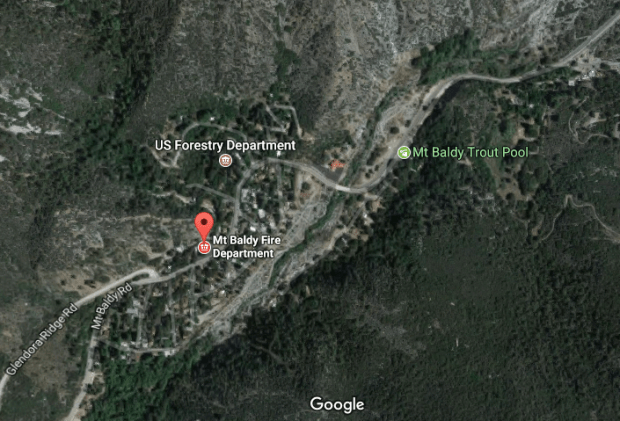 A vehicle reportedly went over the side of Mount Baldy Road early Sept. 8.
