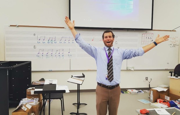 Desmond Stevens teaches instrumental music at Portola High School. (Photo courtesy of Portola High School)