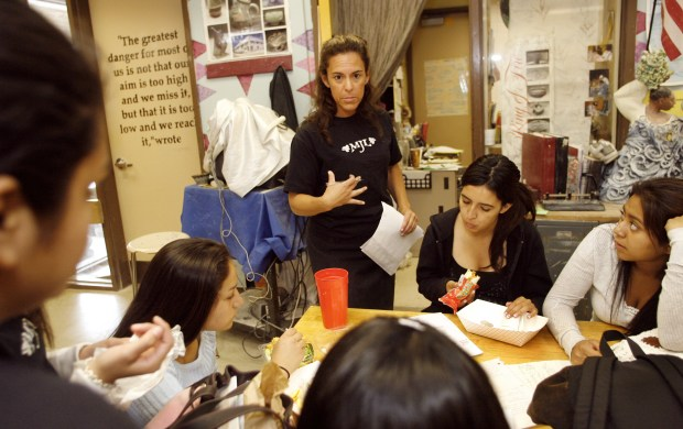 Erin Lopes teaches visual arts at Laguna Hills High School. (Photo by Marilynn Young / The Orange County Register)