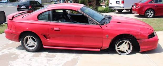 Fountain Valley Police released a photo of the car suspected in a fatal hit and run crash in Fountain Valley on Wednesday, Sept. 13. (Photo courtesy of FVPD)